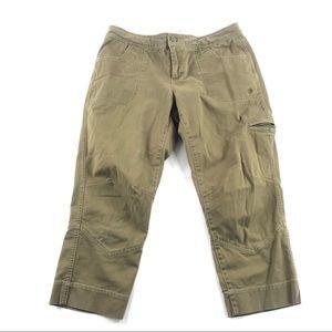 Athleta Casual Capri Pants 8 Cropped Organic
